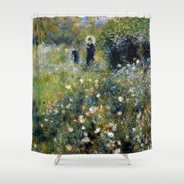 """Auguste Renoir """"Femme avec parasol dans un jardin"""" Shower Curtain"""