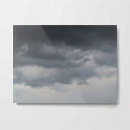 Ombré Cloudy Day Metal Print