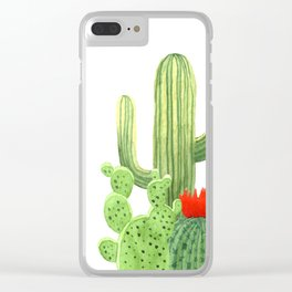 Perfect Cactus Bunch Clear iPhone Case