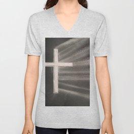 Light Shines Through Darkness Unisex V-Neck