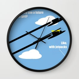jetpacks Wall Clock