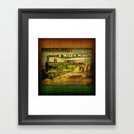 TrainCurios 01 Framed Art Print