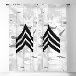 Sergeant (Snow Camo) Blackout Curtain