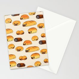 Bread Pugs Stationery Cards