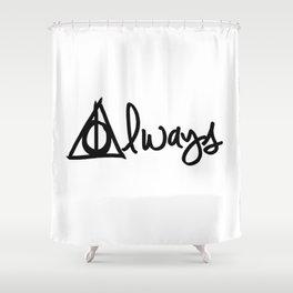 Always, Deathly Hallows, Harry Potter Shower Curtain