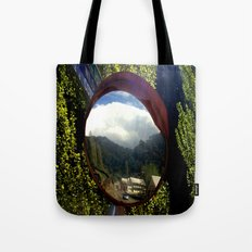 A town inside a Bubble Tote Bag