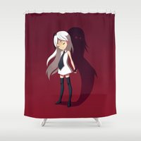 shadow Shower Curtains featuring Shadow by Freeminds