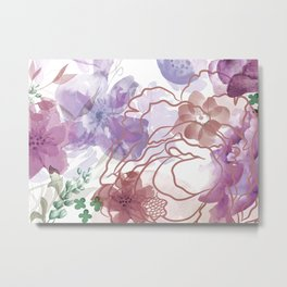 Rosie Outlook - muted purples Metal Print