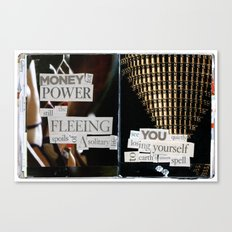 Money for Power Print Canvas Print
