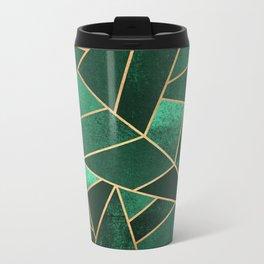Emerald and Copper Metal Travel Mug