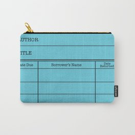 LiBRARY BOOK CARD (sky) Carry-All Pouch