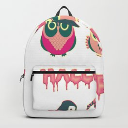 Halloween party owls silhouette boo Backpack