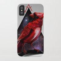 cardinal iPhone & iPod Cases featuring Cardinal by MyArti