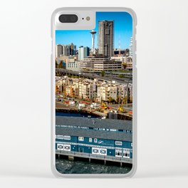 Seattle Space Needle and Aquarium Clear iPhone Case