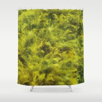moss Shower Curtains featuring moss by Adela Casacuberta