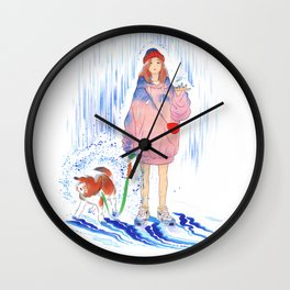BLUE RAIN Wall Clock