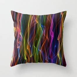 Multi-colour smoke. Throw Pillow