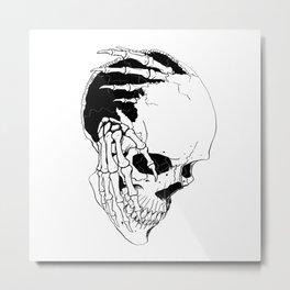 Skull #7 (Creeping Hands) Metal Print
