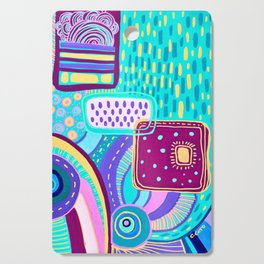 Pop Abstract Cutting Board