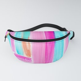 It's Your Life pastel color stripes modern art abstract painting lines pattern minimalist Fanny Pack