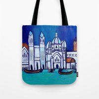 venice Tote Bags featuring Venice by Theresa Giolzetti