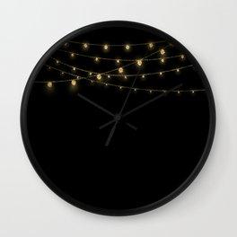 Gold rich Glitter Chain- Treasure Sparkle Wall Clock