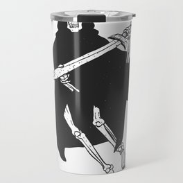 Grim cartoon - Reaper cartoon - Gothic skeleton Travel Mug