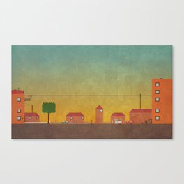Hometown Scene Canvas Print