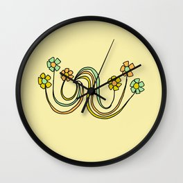 bloom where you are planted // waves and flowers Wall Clock