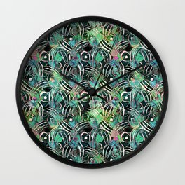 Exotic vibrant pattern.1 Wall Clock