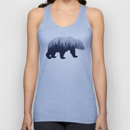 Bear in the Woods Unisex Tank Top