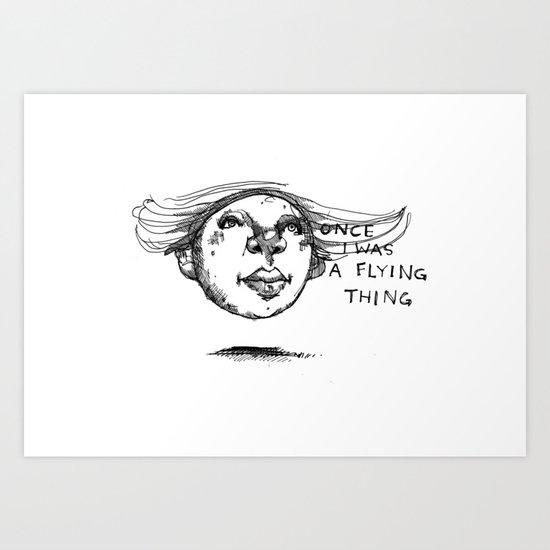 Flying Thing Art Print
