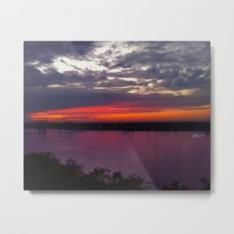 Mississippi Sunset Metal Print