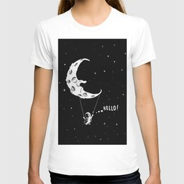 Spaceman on Swing Boat with Moon T-shirt