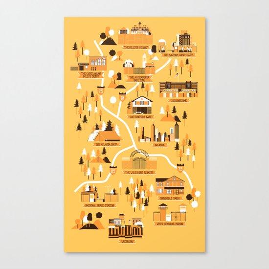 Survivors Map Canvas Print