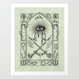 The Practices of Keeping One Eye Open Art Print
