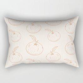 Cute and nice orange Rectangular Pillow