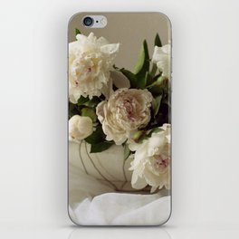 Garden peonies for Justine - wedding bouquet photography iPhone Skin