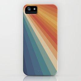 Retro 70s Sunrays iPhone Case