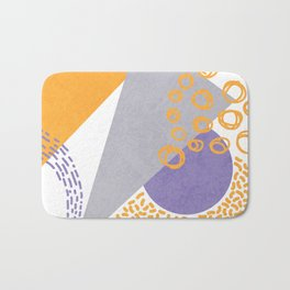 Triangles and sprinkles Bath Mat