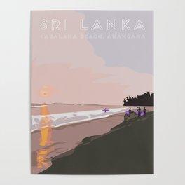 Ahangama, Sri Lanka Travel Poster Poster