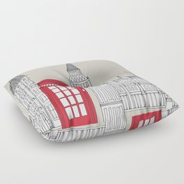 box floor pillows. London Red Telephone Box Floor Pillow Pillows