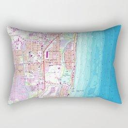 Vintage Map of Boca Raton Florida (1962) Rectangular Pillow