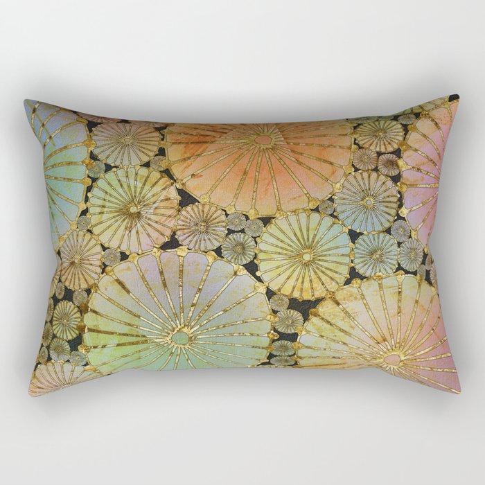 Abstract Floral Circles 2 Rectangular Pillow