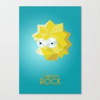 simpsons Canvas Prints featuring SIMPSONS ROCKS by inkgraphics