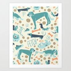 Park Dogs Art Print