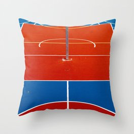 The Court in Red and Blue (Color) Throw Pillow