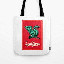 Dragon of Ljubljana (Red) Tote Bag