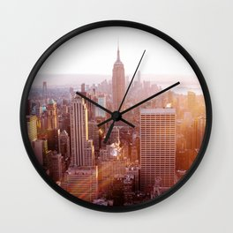 New York City Skyline - Vertical Wall Clock