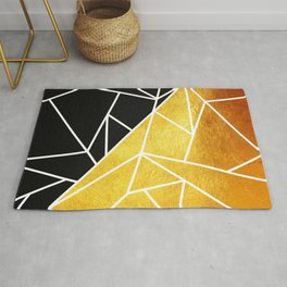 Coal and Gold Rug